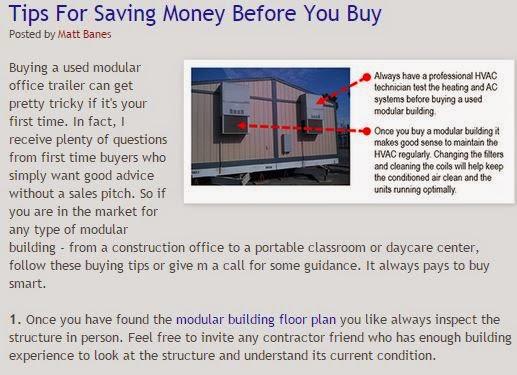 Help from Matt Banes abou buying a modular