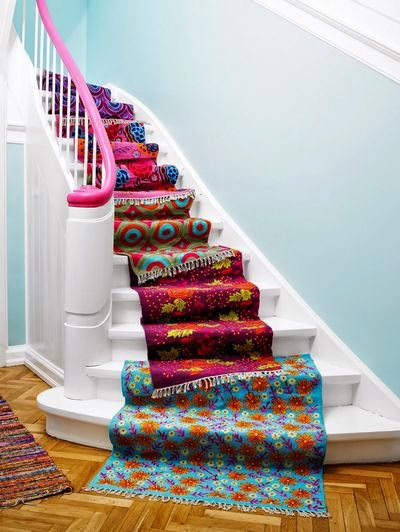 rugs as a stair carpet