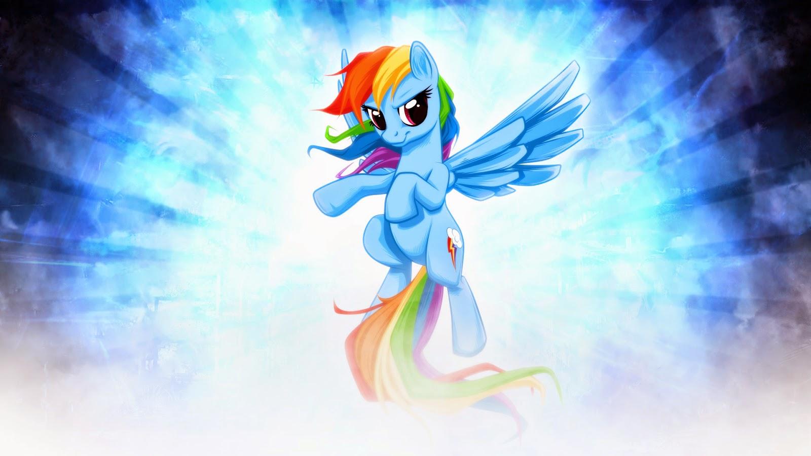 Rainbow Dash Character Desktop Wallpaper