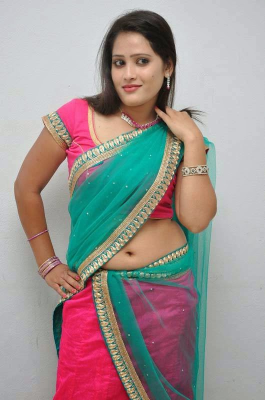 Actress Anusha Latest Cute Hot Transparent Pink and Green ...