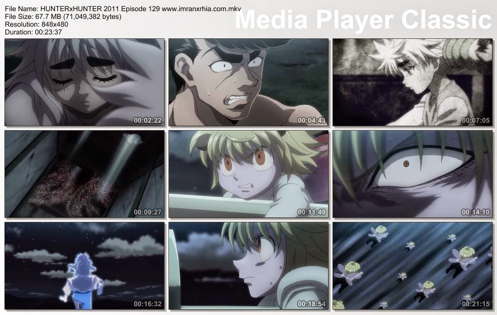 Download Film / Anime Hunter x Hunter 2011 Episode 129 (Musuh yang Kuat dan Menyelesaikan Misi) Bahasa Indonesia