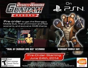 (PS3) Dynasty Warrior: Gundam Reborn - FREE GIVEAWAY SPONSORED BY BANDAI NAMCO GAME!