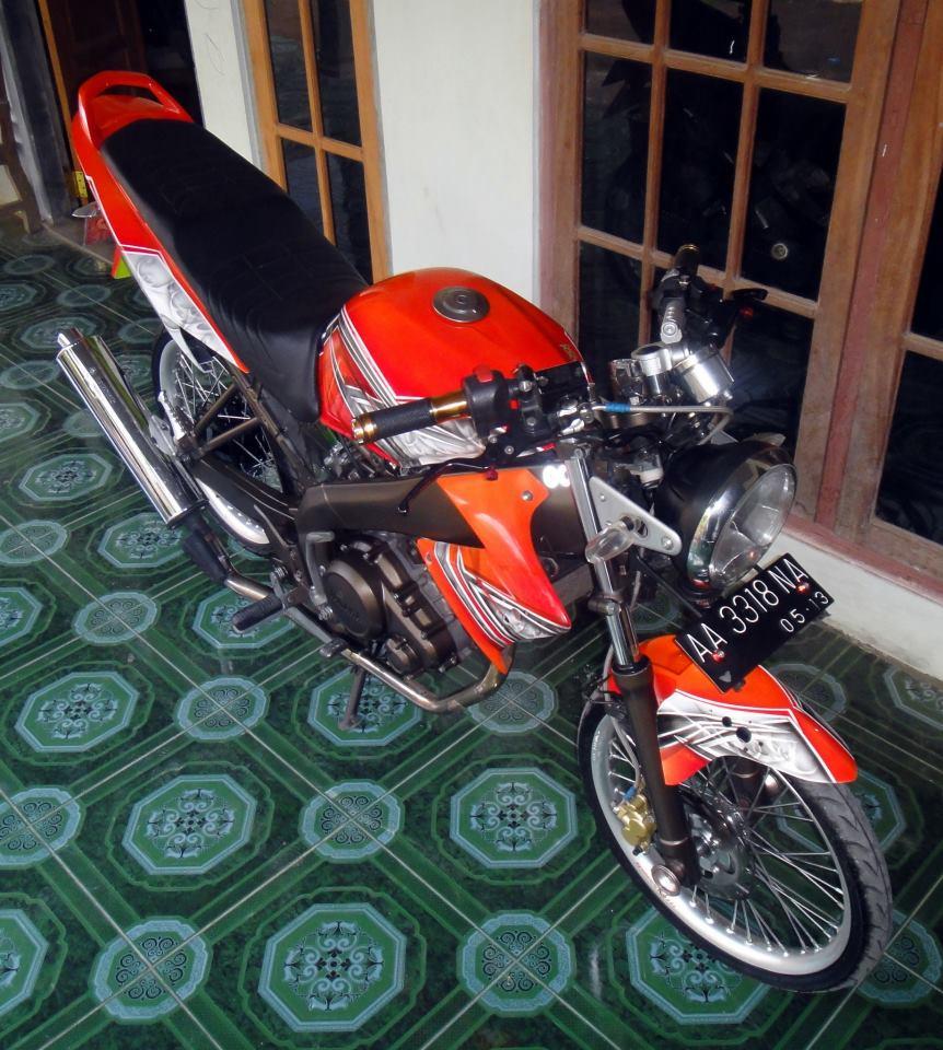 Yamaha Vixion Drag Modifikasi
