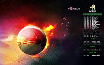 Euro 2012 Wallpaper Participant - Fire Balls
