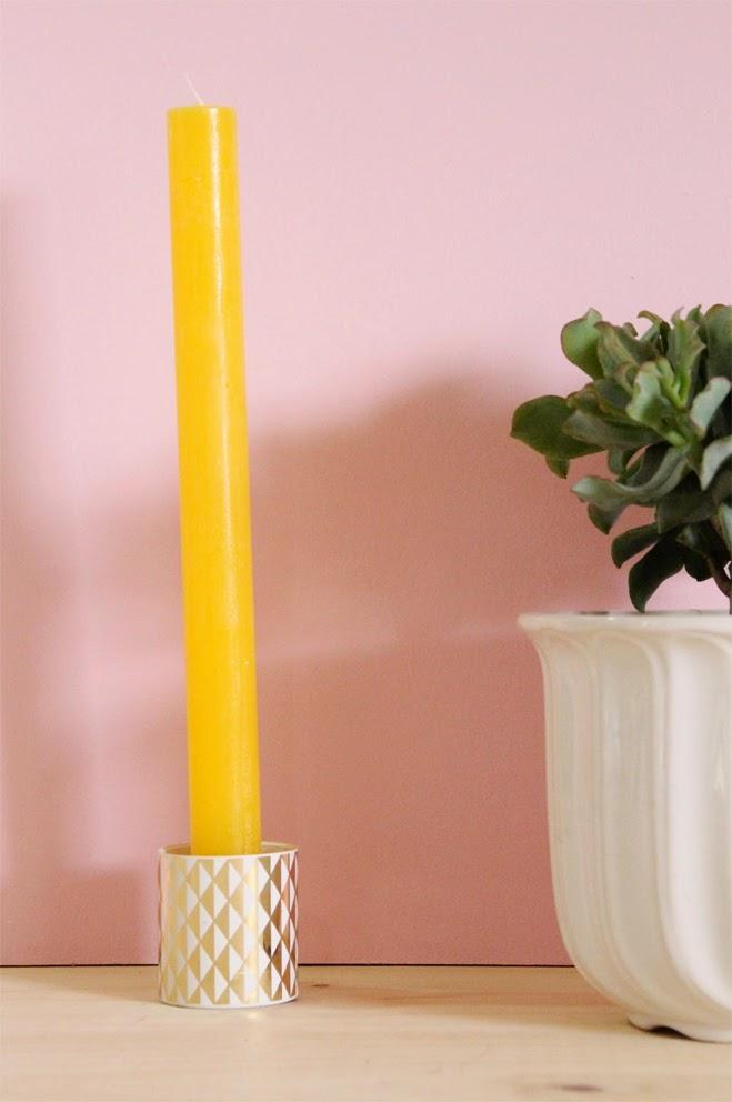 succulentes, bougies formes géométiques doré déco tendances plantes grasses cache pot en faience