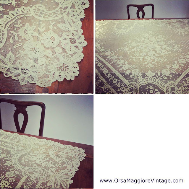 1800s antique lace bridal veil