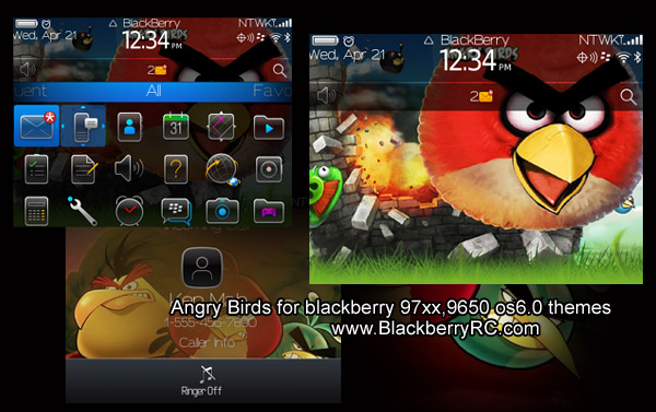 Themes Angry Birds BlackBerry