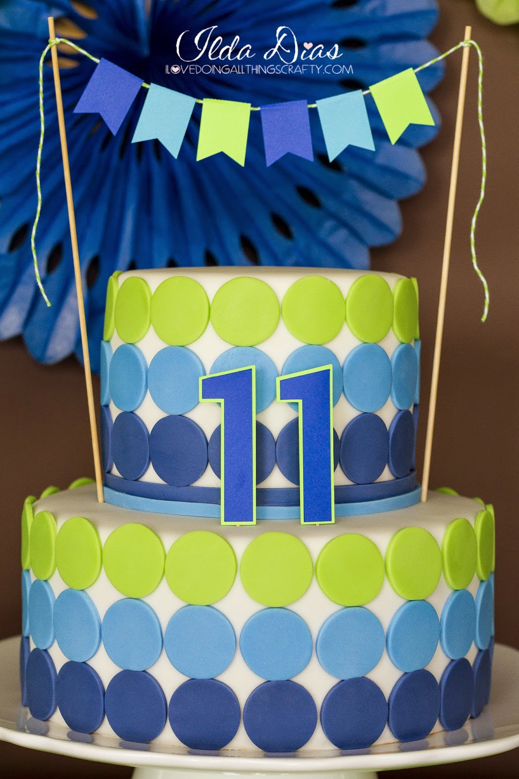 I Love Doing All Things Crafty Simple Blue And Green Birthday Party