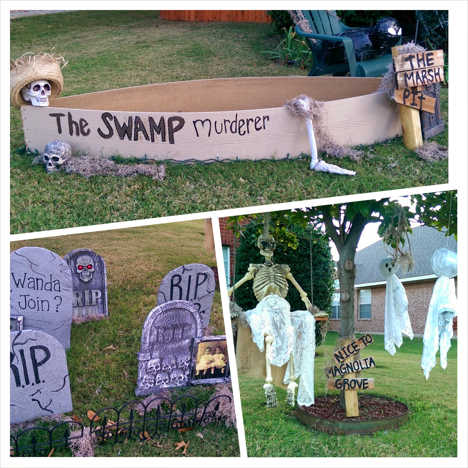 Halloween yard decorations diy - Diy Halloween Decorations Cajun Bayou Swamp Theme Yard Decorations