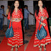 Anitha Chowdary Red Long Salwar