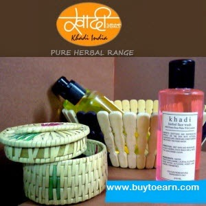 Buy Khadi Herbal Beauty Products upto 50% off from at Rs.75 : Buy To Earn