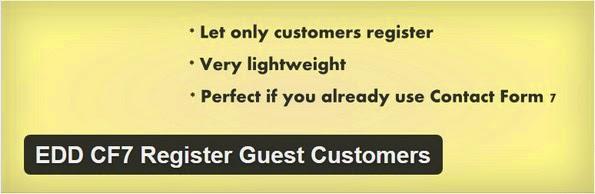 EDD CF7 registrations plugin