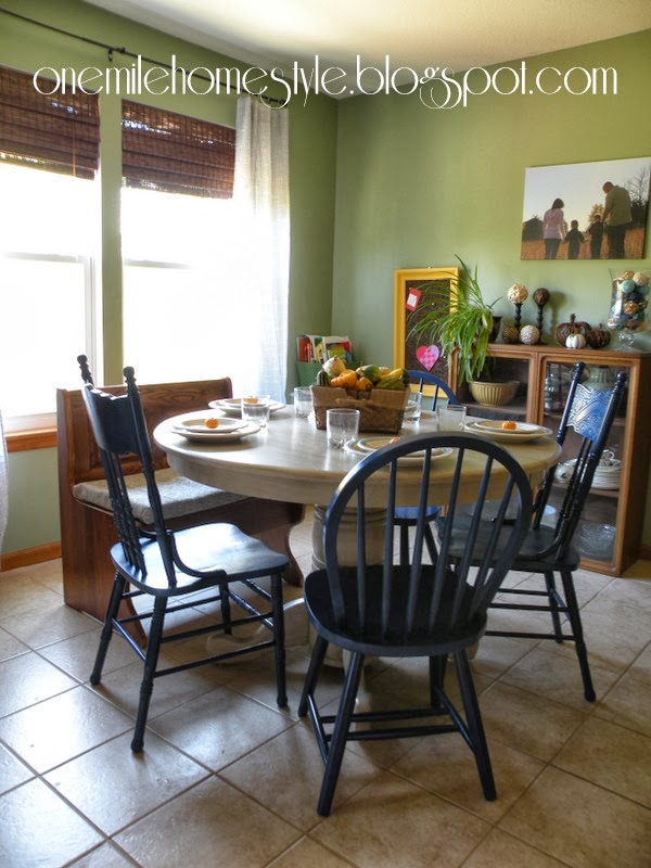 Attractive Dining Room After   Fall Table Setting