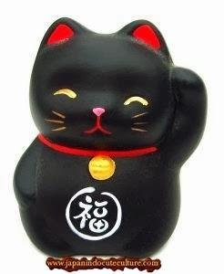 """Maneki Neko """"招き猫"""" Kucing Hitam"""