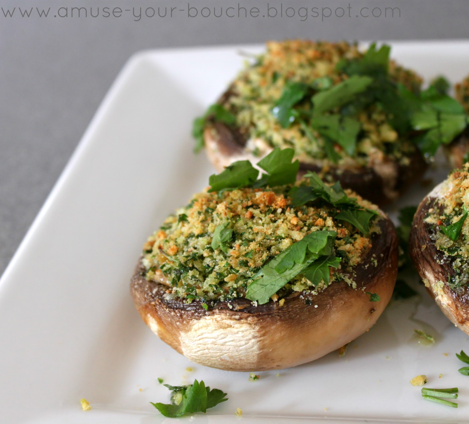 Simple stuffed mushrooms - Amuse Your Bouche