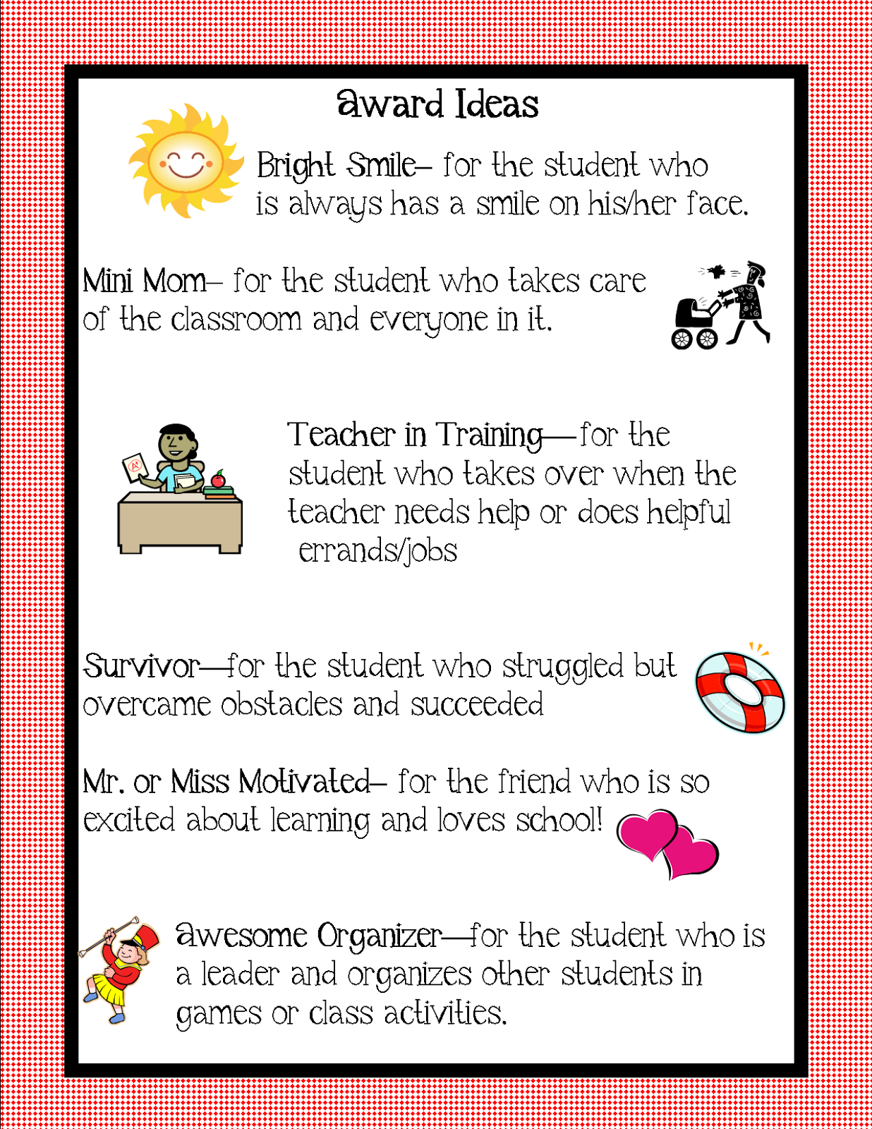 Classroom Ideas Awards ~ Kindergarten squared awards ideas for your kiddos