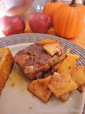 Frugal Foodie Mama: Slow Cooker Apple Butter Pork Chops