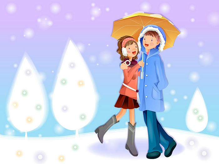 Romantic Christmas Lovers