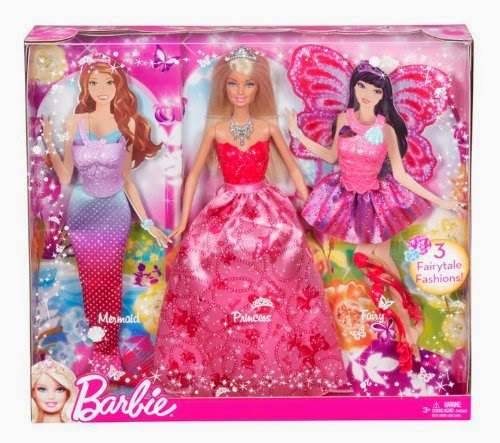 Barbie Mix and Match Deluxe, bambola accessori trasformabile in Principessa, Sirena e Farfalla