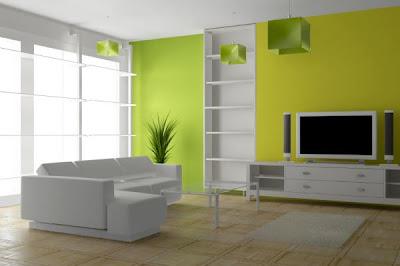 Lemon Lime Living Room