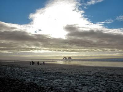 photo of Twin Rocks in Rockaway Beach Oregon by Nancy Zavada