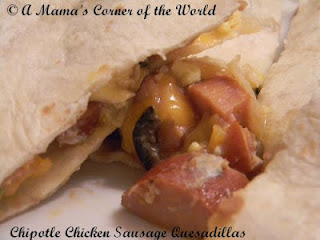 Chipotle Chicken Sausage Breakfast Quesadilla Recipe