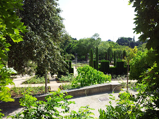 garden views of Teatro Grec Barcelona