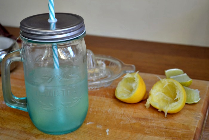 Homemade lemonade in a mason jar