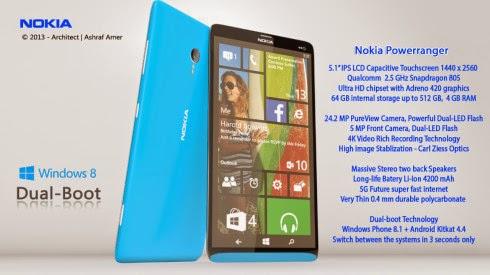 Nokia Power Ranger Dual Boot Terbaru 2016