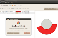 Baobab- Tool to graphically display hard drive size on Ubuntu Linux