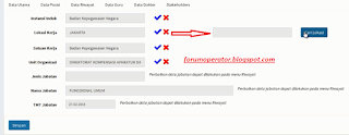 Cara Mengisi Data Posisi di E-PUPNS