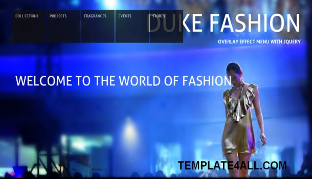 Blue Fashion Full Jquery CSS Template