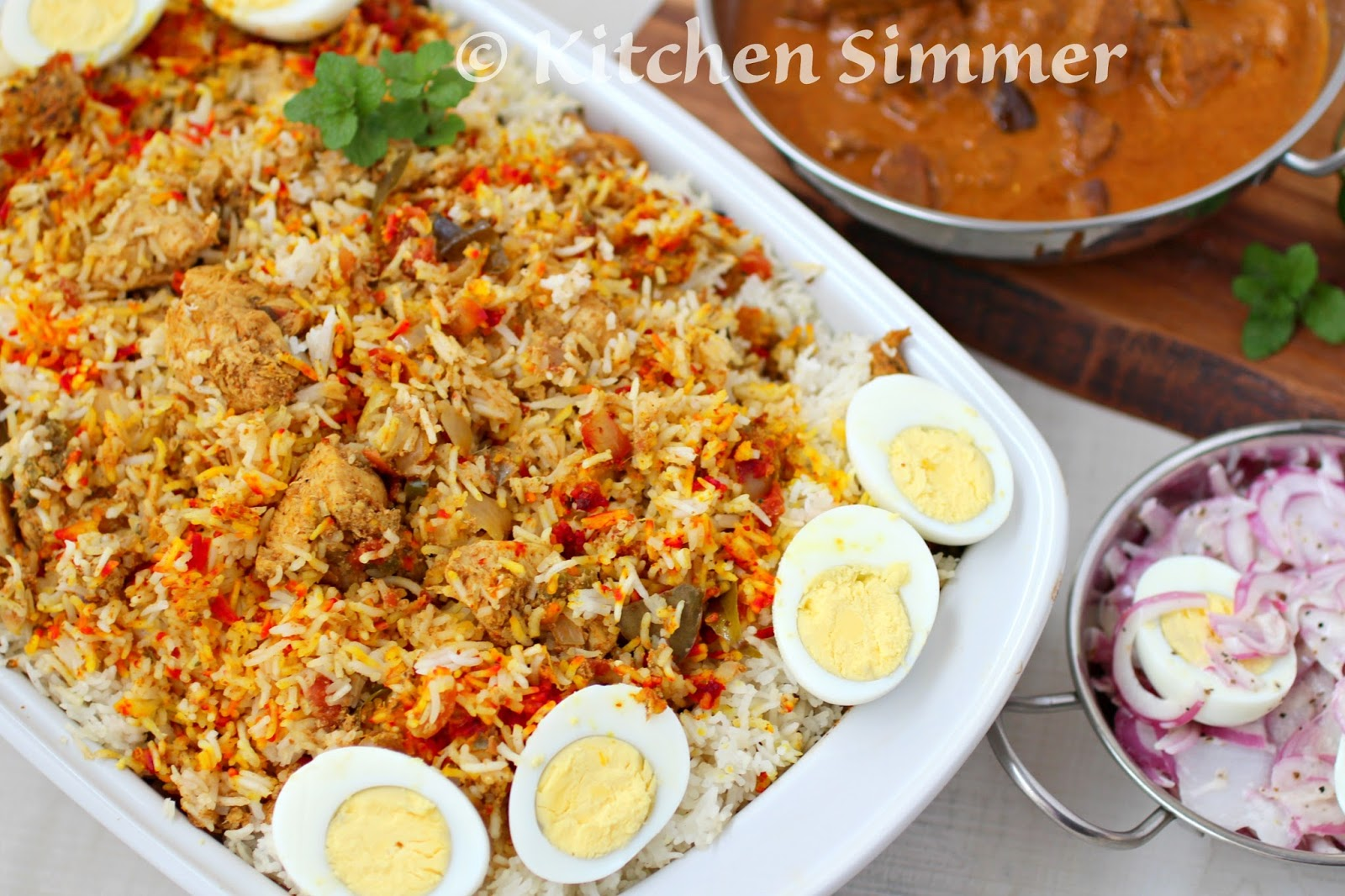 Spicy Chicken Biryani Is A Very Flavorful And Aromatic Rice And Chicken  Dish That Feeds A Crowd In Style My Bother And Sister Love To Entertain  With A