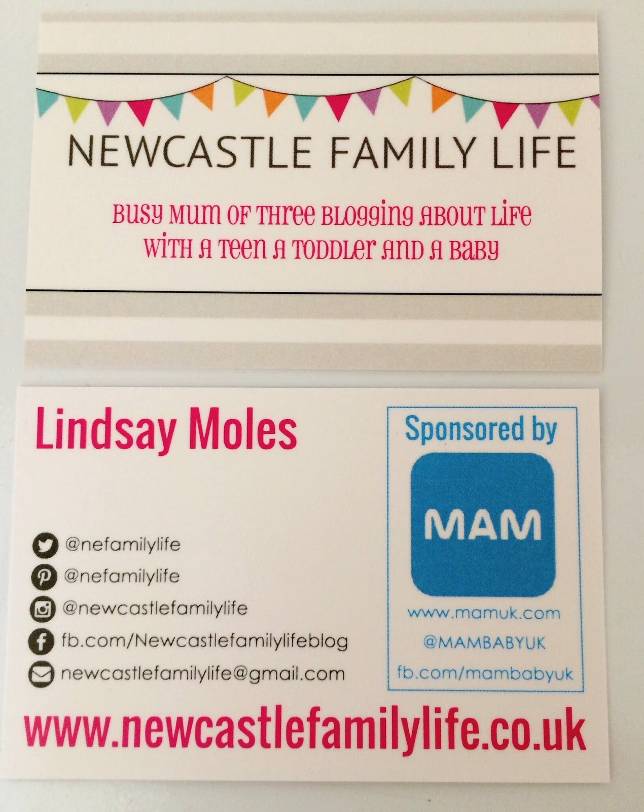 Newcastle Family Life Blog Business Cards From StressFreePrint
