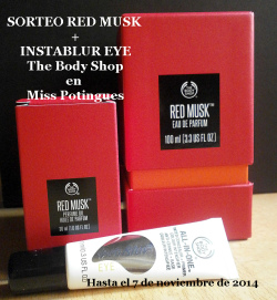 Sorteo Red Musk + Instablur TBS Miss Potingues