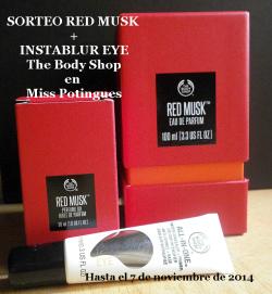 Sorteo Red Musk + Instablur TBS Miss Potingues