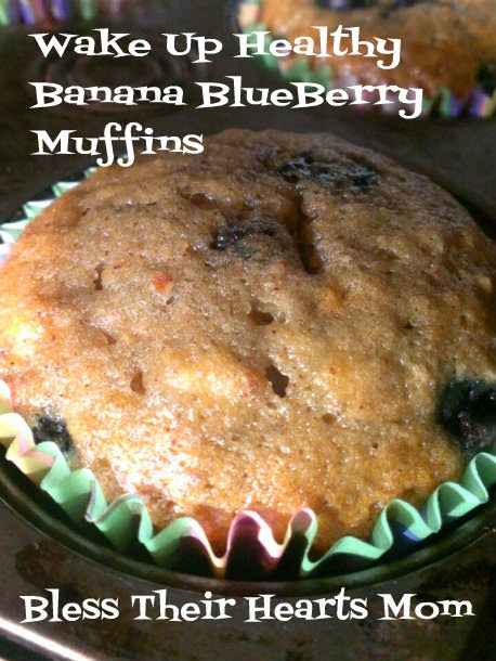 Wake Up Healthy Banana BlueBerry Muffins