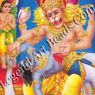 Narasintha killing Hiranyakashipu.