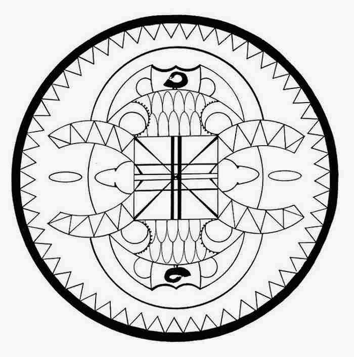 countries african scorpion mandala coloring pages