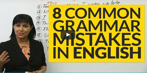 8 Common Grammar Mistakes in English