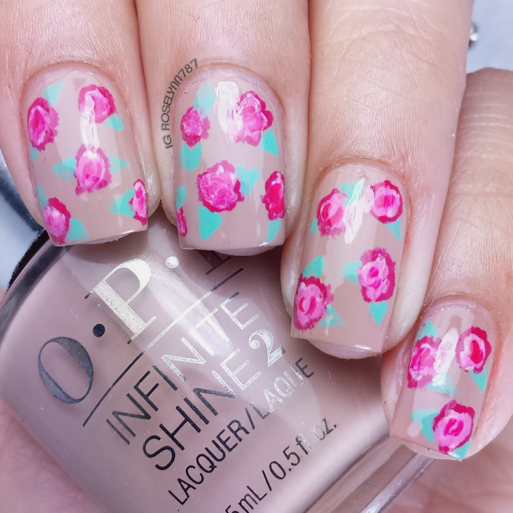 Opi infinite shine rose nail art manicured marvelous opi infinite shine rose nail art prinsesfo Gallery