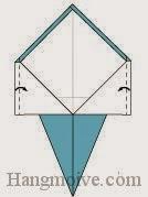 Bước 6: Gấp hai mép cạnh giấy vào trong.