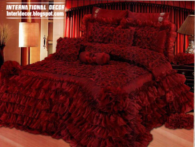 Royal Red Bedspreads Luxurious Models 2014