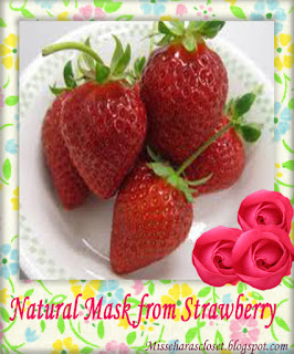 natural mask from strawberry