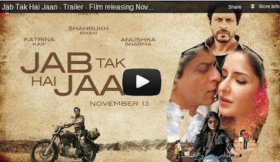 Trailer Video: Jab Tak Hai Jaan - Shahrukh Khan, Katrina Kaif & Anushka Sharma