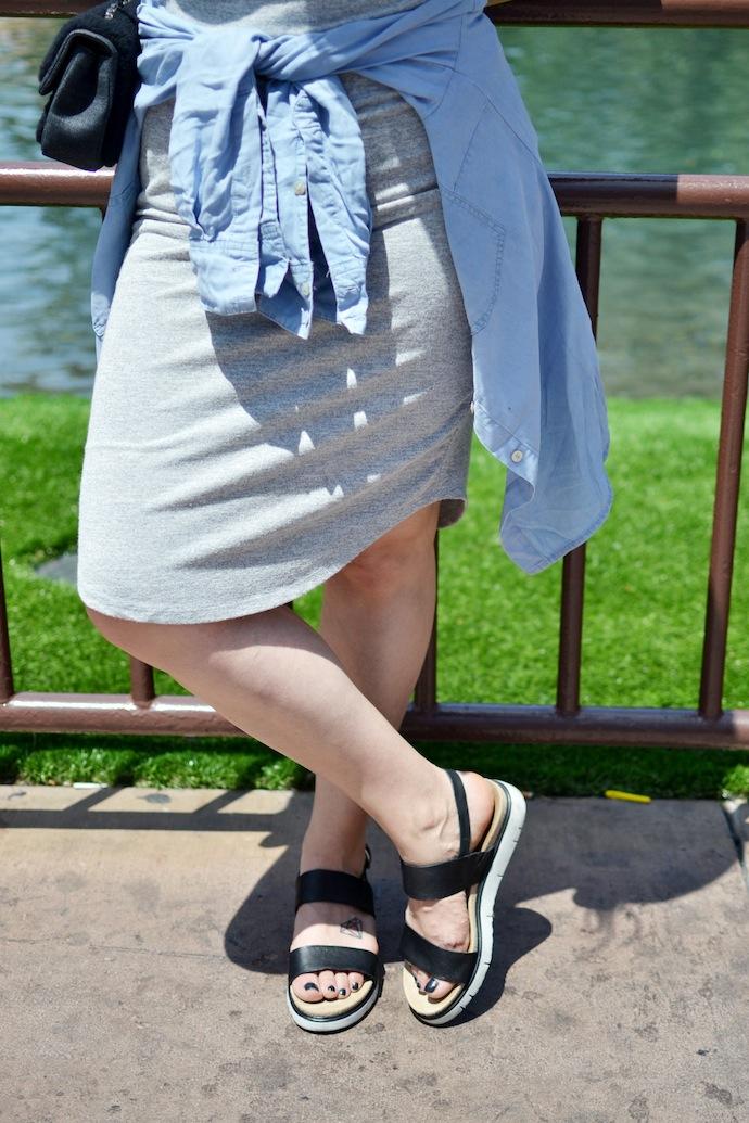 Las Vegas style Le Chateau midi dress Vancouver blogger