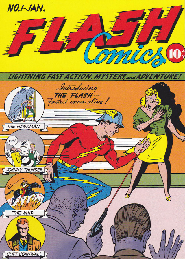 Tapa del primer comic de Flash (1940)