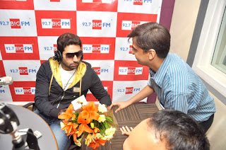 Abhishek, Rohit Shetty & RJ Yamini at 98.7 BIG FM