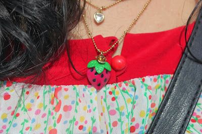 Betsey Johnson Strawberry Necklace