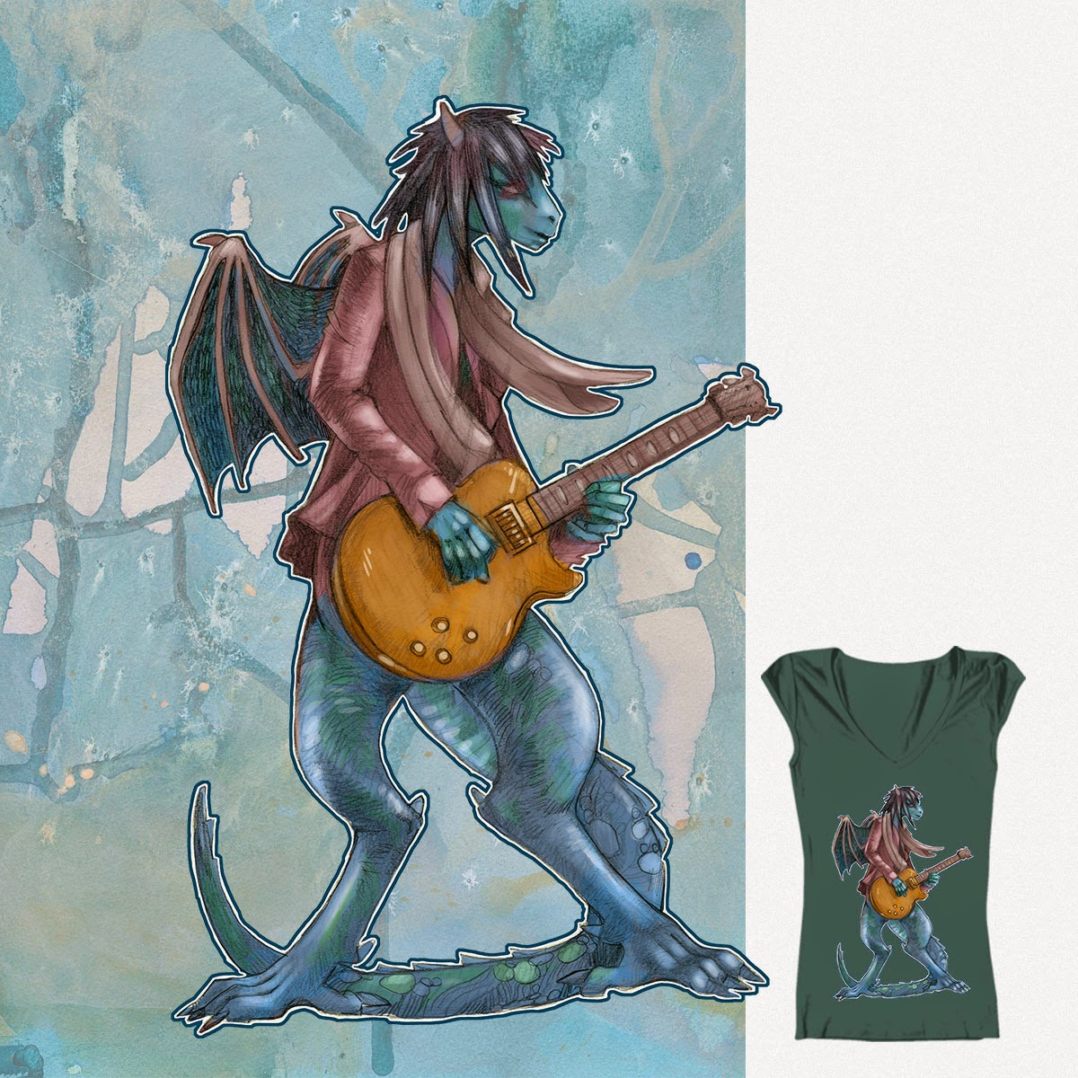 https://www.threadless.com/designs/guitar-dragon